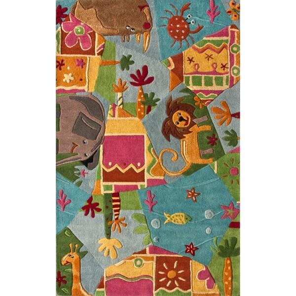 nuLOOM Handmade Kids Jungle Wool Rug (3'6 x 5'6)