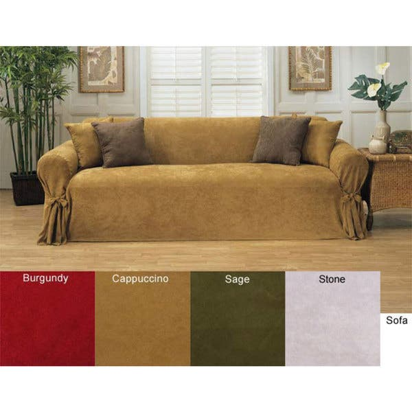 Cool Shop Classic Slipcovers Microsuede Loveseat Slipcover Free Dailytribune Chair Design For Home Dailytribuneorg