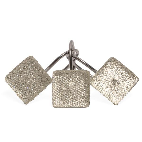 Crystal Diamonds Shower Curtain Hooks