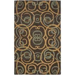 "Safavieh Handmade Rodeo Drive Brown New Zealand Wool Rug - 7'6"" x 9'6"" - Thumbnail 0"