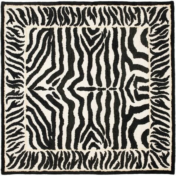 Shop Safavieh Handmade Rodeo Drive Zebra Abstract Black