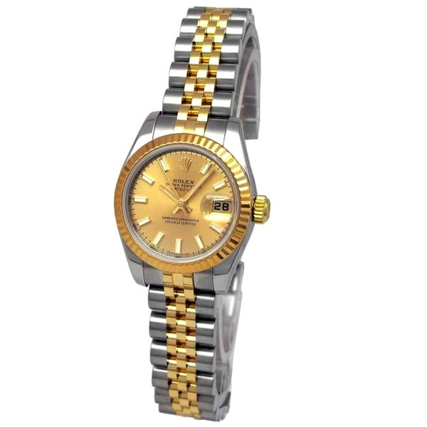Pre-owned Rolex Women's 18k Yellow Gold and Stainless Steel Watch
