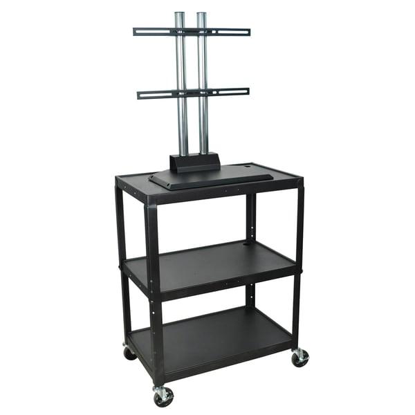 Luxor Adjustable Large Steel A/V Cart with Flat Panel TV Mount