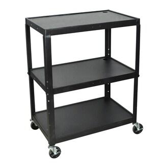 Luxor Adjustable Height Large Steel A/V Cart