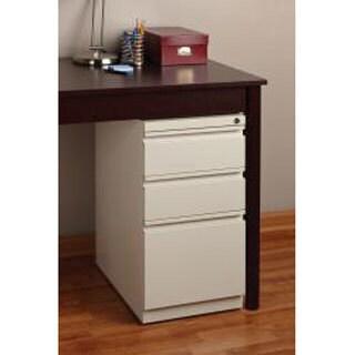 Hirsh 20-inch Three-drawered Deep-box Steel Mobile File Pedestal (Option: Putty/Off-White)