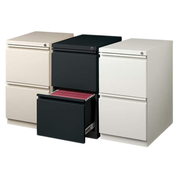 Hirsh 20 Inch Deep Steel Mobile Two Drawer File Pedestal With Lock