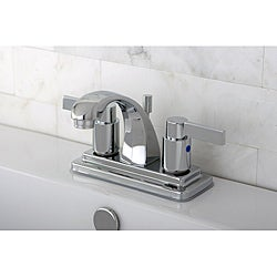 Nuvo Fusion Chrome 4-inch Center Bathroom Faucet - Thumbnail 0