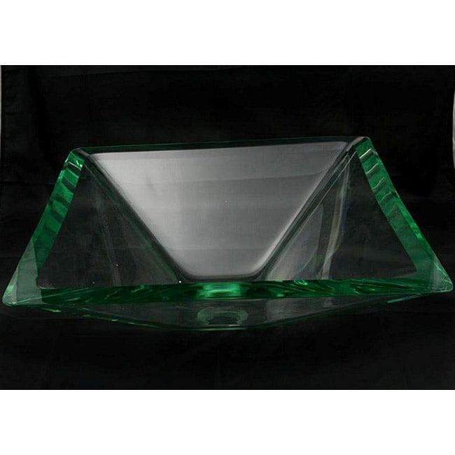 Clear Square Glass Sink Bowl