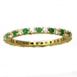 Beverly Hills Charm 10k Gold Emerald and White Sapphire Eternity Band