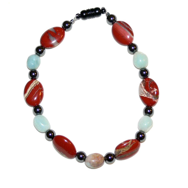 Susen Foster 'Real Men Wear Jasper' Gemstone Bracelet