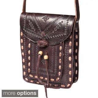 Handmade Crossbody Leather Messenger Bag (Morocco)|https://ak1.ostkcdn.com/images/products/6570024/6570024/Crossbody-Leather-Messenger-Bag-Morocco-P14146754.jpg?impolicy=medium