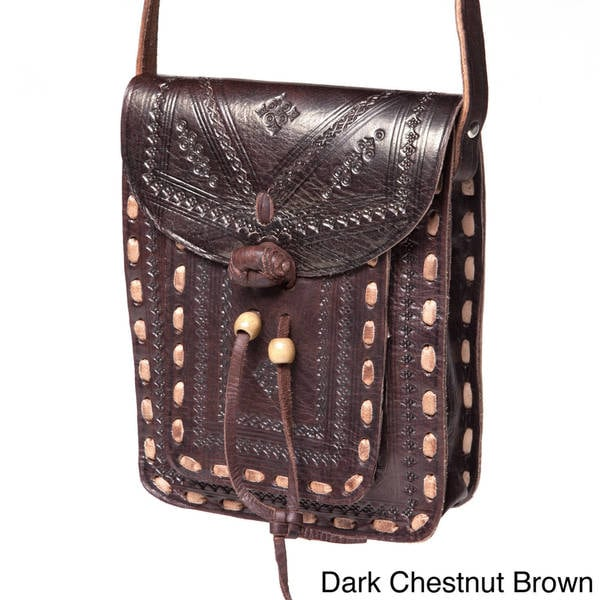 Handmade Crossbody Leather Messenger Bag (Morocco)