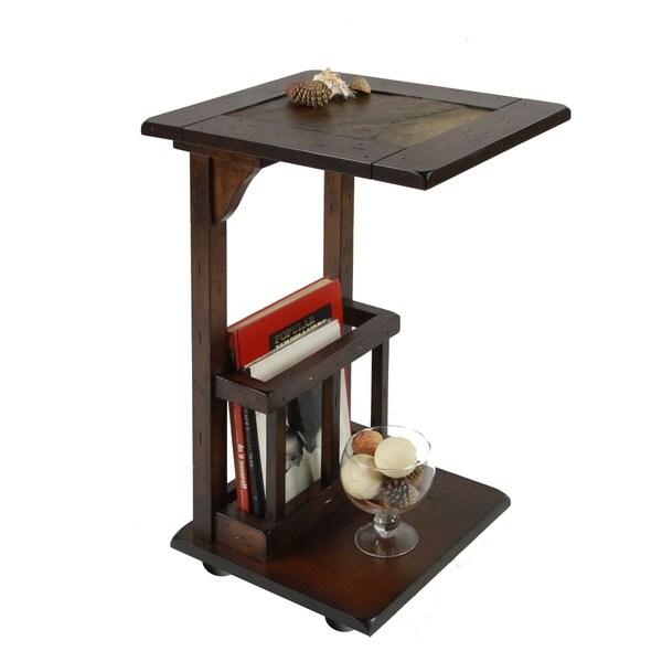 Furniture of America Kalt Casual Oak Solid Wood Storage End Table