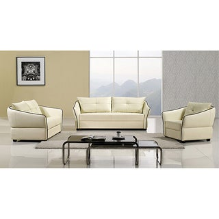 Furniture of america modena 3 piece sofa set free for Kitchen set modena