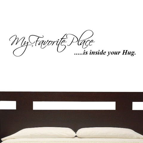 My Favorite Place' Vinyl Wall Graphic Decal