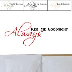 'Always Kiss Me Goodnight' Vinyl Two-Color Wall Graphic Decal