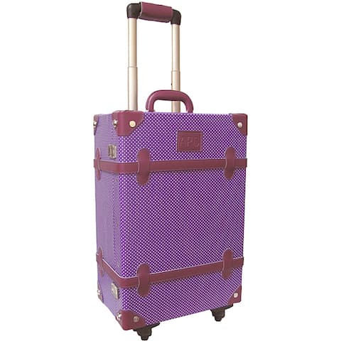 Amerileather Vintage Violet 23-inch Spinner Trunk Suitcase