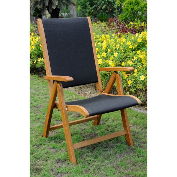 International Caravan Royal Tahiti Segovia Seat 5-position Folding Arm Chair (Set of 2)