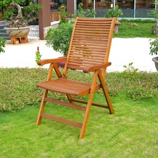 International Caravan Royal Tahiti 'Freeport' 5-Position Outdoor Folding Armchair (Set of 2)