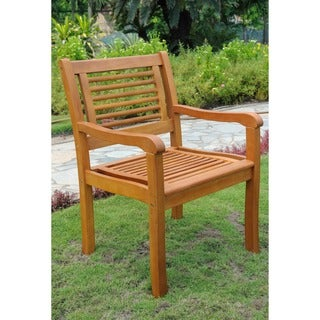 International Caravan Royal Tahiti Bar Harbor Outdoor Arm Chairs (Set of 2)