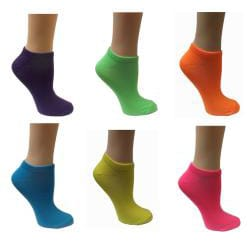 All Mixed Up Women's Neon Anklet Socks (Pack of 6)
