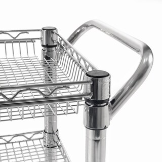 Seville Classics Silvertone Stainless Steel 3-shelf Heavy-duty Commercial Utility Cart