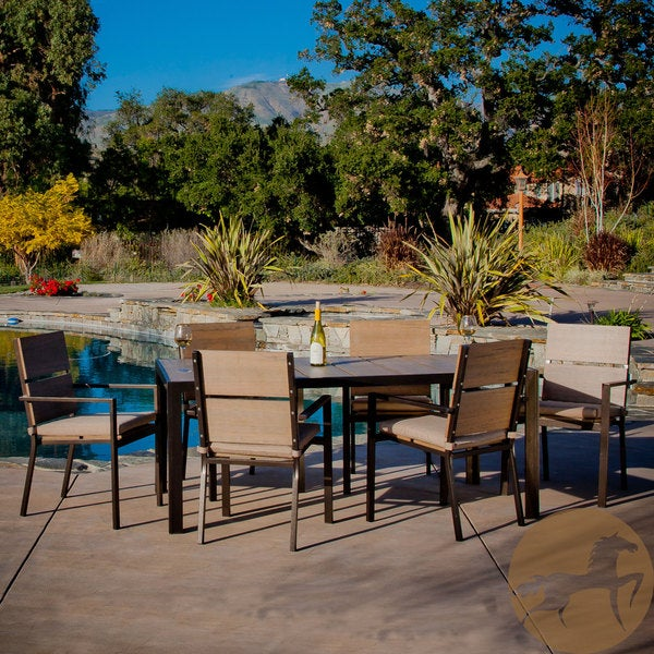 Molokai 7 Piece Poly Wood Outdoor Dining Set By Christopher Knight Home
