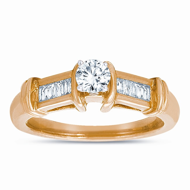 14k Yellow Gold 1/2ct TDW Diamond Ring (J-K, SI1-SI2) - Thumbnail 0