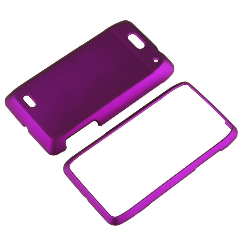 Purple Snap-on Rubber Coated Case for Motorola Droid 4