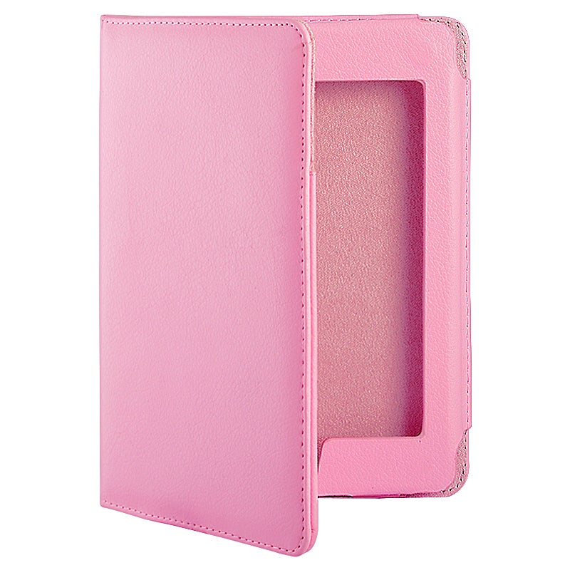 Protective Pink Leather Accessory Case for Amazon Kindle Touch