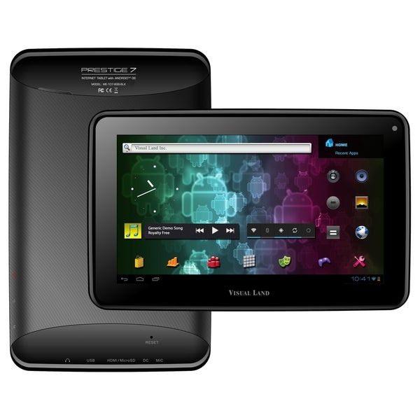 "Visual Land Prestige 7 ME-107-8GB Tablet - 7"" - 512 MB DDR3 SDRAM - A"