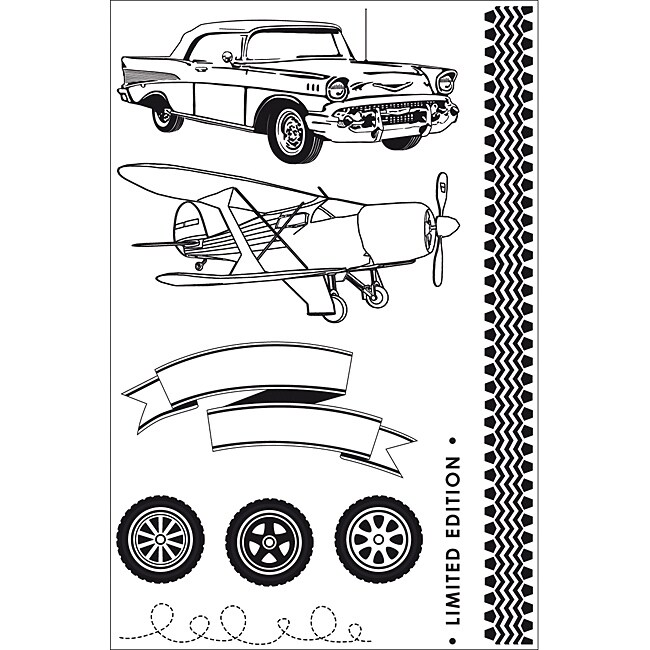 Kaisercraft 'On the Move' Clear Stamps
