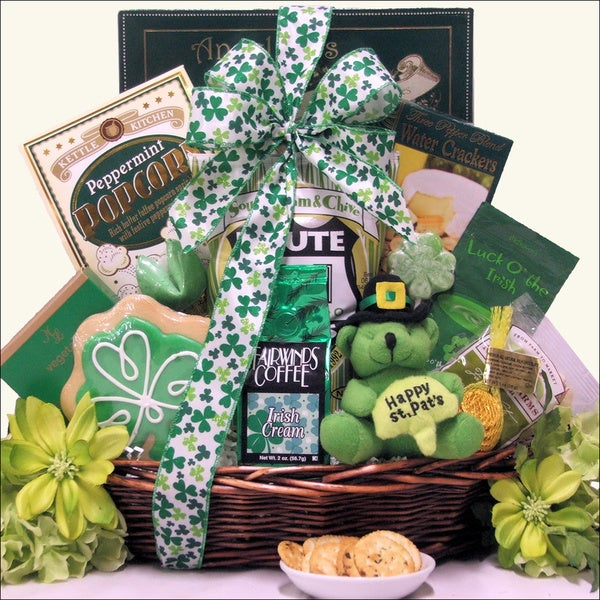 St. Patrick's Day 'Luck O' the Irish' Small Gourmet Gift Basket