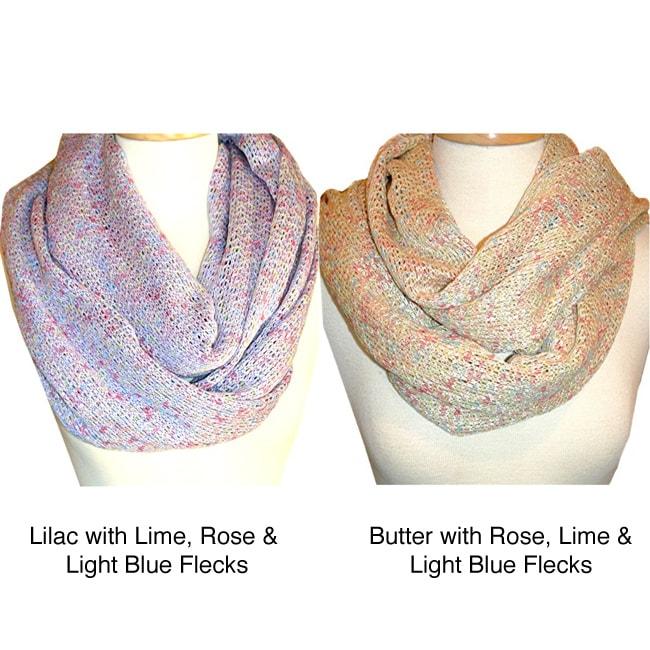 Lightweight Knit Infinity Scarf