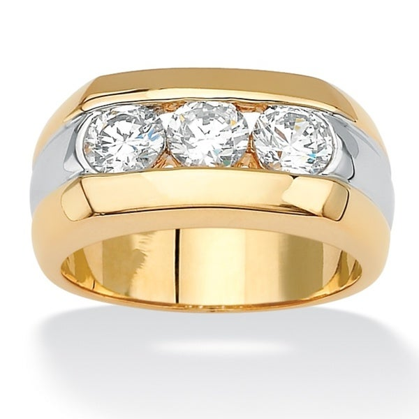 Vintage 1.50 Ct White Round Diamond 14K Yellow Gold Over Men/'s Wedding Band Ring