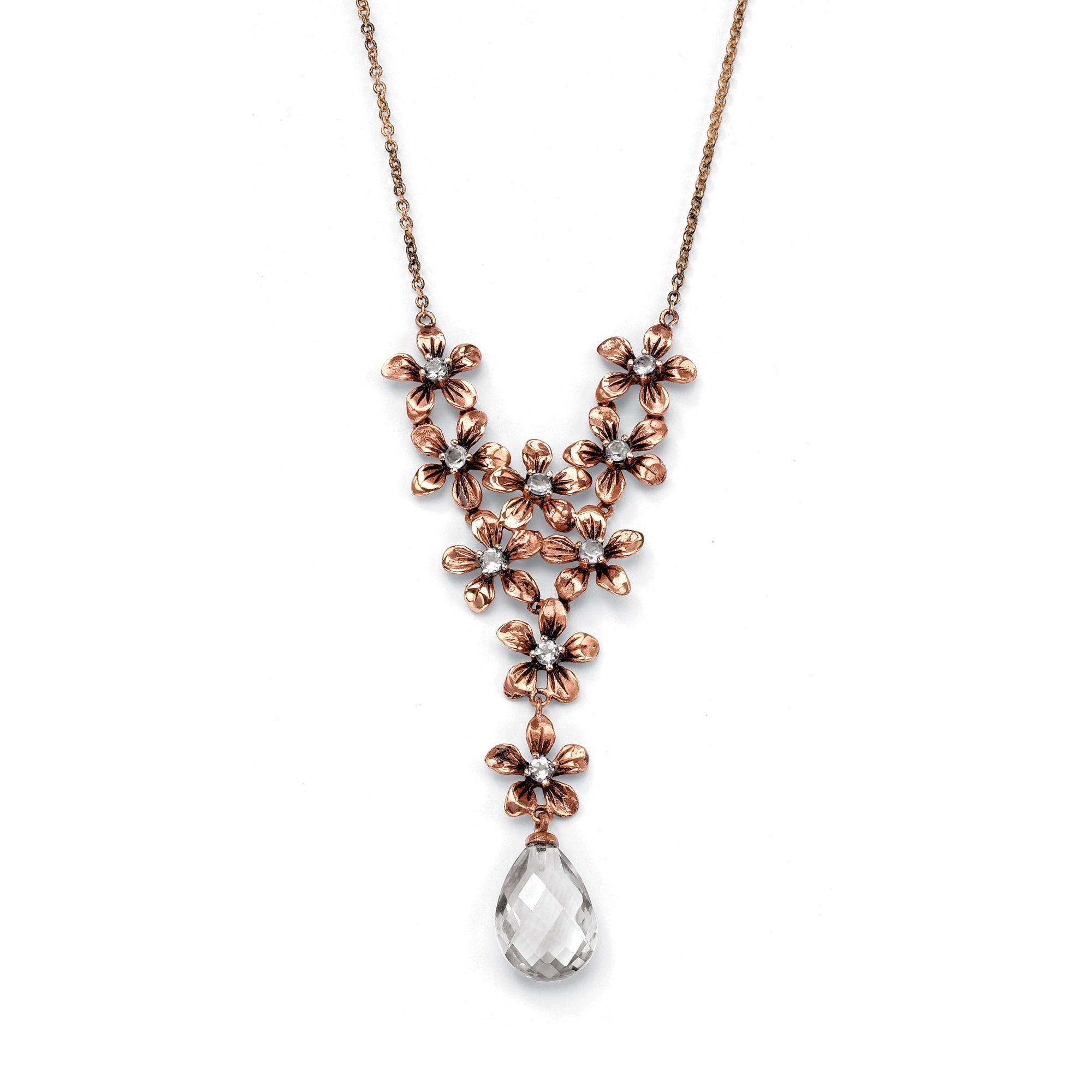 Isabella Collection Rose Goldplated Cubic Zirconia Necklace