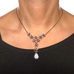 Isabella Collection Rose Goldplated Cubic Zirconia Necklace - Thumbnail 2