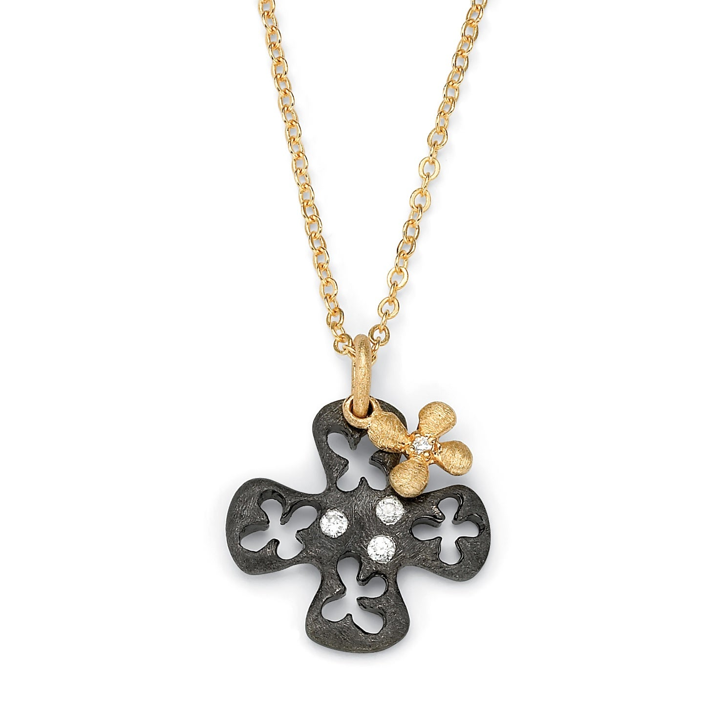 Ultimate CZ Black Ruthenium-plated Cubic Zirconia Necklace