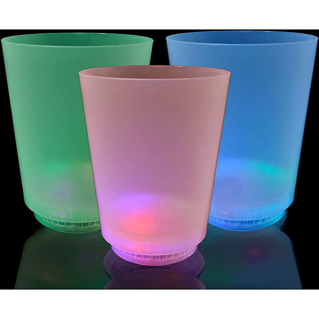 LED Multicolor Mood Lights Short Glass (Pack of 12)