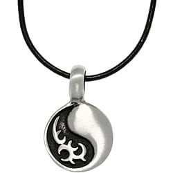 Carolina Glamour Collection Pewter Unisex Tribal Yin Yang Necklace