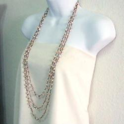 Handmade Pearl Orient FreshWater Peach Pearls Triple Strand Necklace (Thailand)