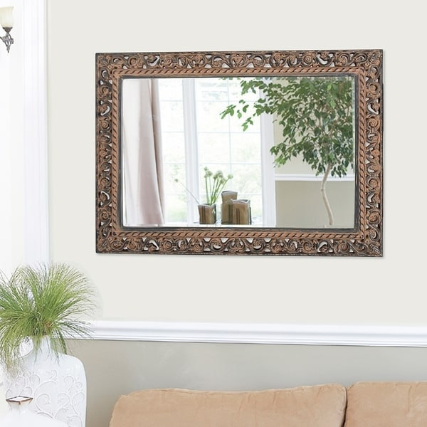 Shop Antique Black Mirror With Silver Highlights Free