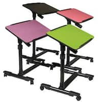 OSP Home Furnishings Mobile Laptop Cart with Adjustable Top