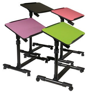 Office Star Products Mobile Laptop Cart with Adjustable Top