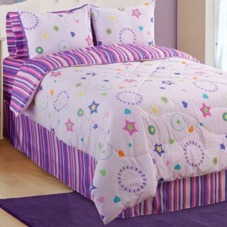 Glow In The Dark Star Glow 3-piece Twin-size Comforter Set