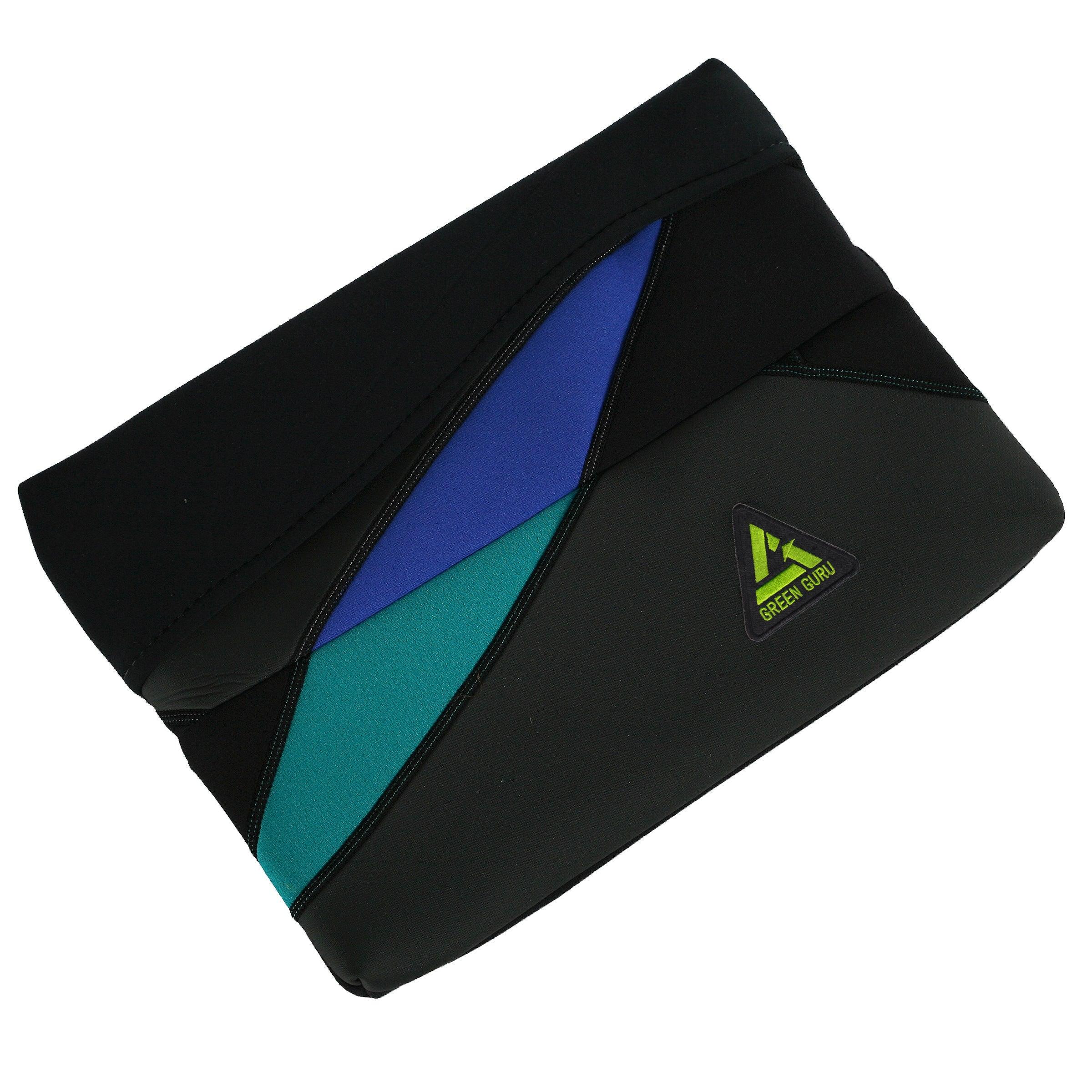 Green Guru Black/Blue/Green Recycled 15-inch Protective Laptop Sleeve
