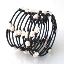 Witty Spring Freshwater White Pearl Bangle/Bracelet (Thailand)