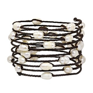 Witty Spring Freshwater White Pearl Bangle/Bracelet (Thailand)