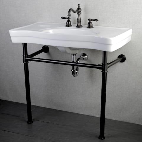 Imperial Vintage 36-inch Oil Rubbed Bronze Pedestal Bathroom Sink Vanity