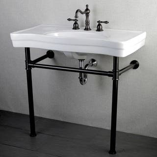 Imperial Vintage 36 inch Oil Rubbed Bronze Pedestal Bathroom Sink Vanity. Bathroom Vanities   Vanity Cabinets For Less   Overstock com